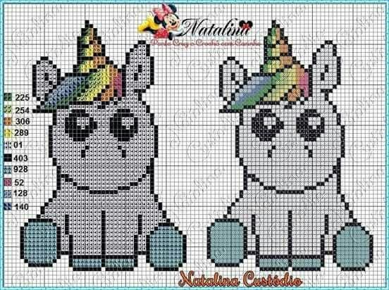 Pin de Tayane Cristie en ❤ cross stitch ❤ | Pinterest | Unicornios ...
