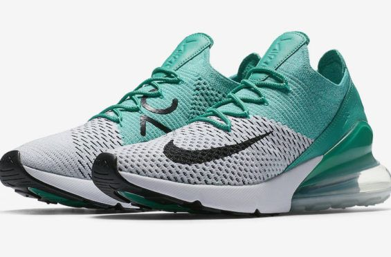 Release Date: Nike WMNS Air Max 270 Flyknit Clear Emerald The Nike WMNS Air  Max 270 Flyknit Clear Emerald is a women's exclusive iteration… | Pinteres…