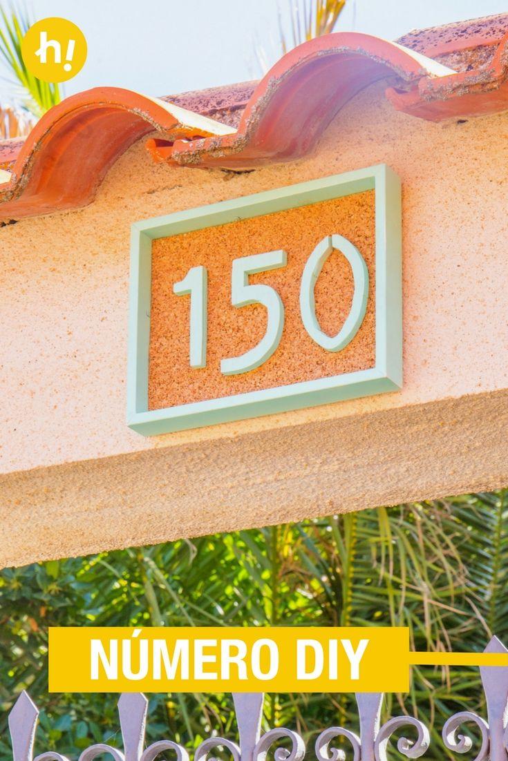 Número para la puerta con un marco de fotos | Pinterest | Marcos de ...