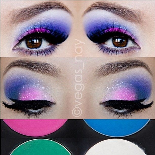 Love the way Vegas_nay used her Sugarpill Sweetheart palette to create her own custom violet shade! She mixed Dollipop with Afterparty, then used Tako for blending and highlight. Beautiful, lady!