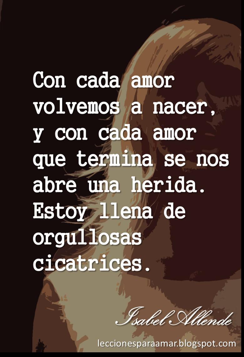 Lecciones Para Amar Frase De Amor Y Separación Isabel Allende