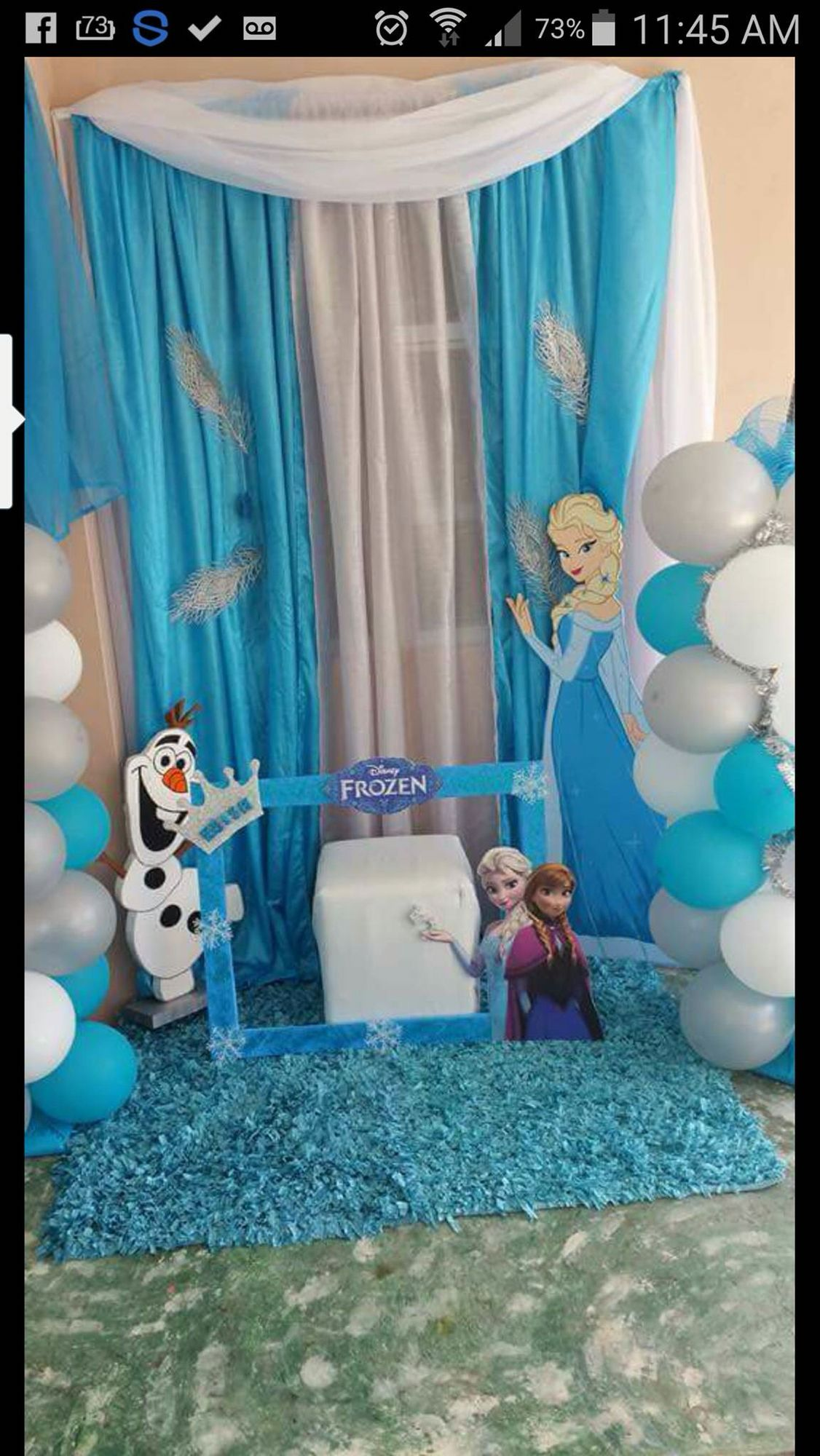 Frozen birthday decoration Elsa character Frozen Pinterest