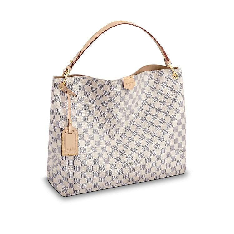 327e17dcb9963 Damier Azur Canvas HANDBAGS Shoulder Bags   Totes Graceful MM