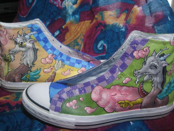 30% Discounted Hand Painted Shoes, MLP Discord  Hi Tops | shoes