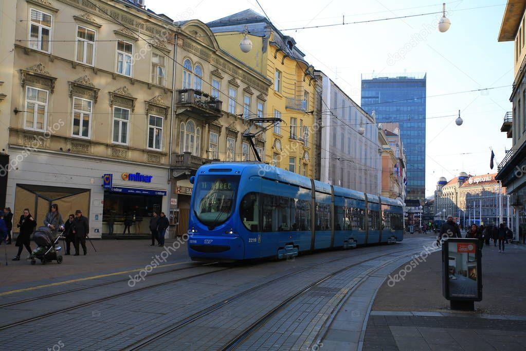 Zagreb Croatia February 2019 Zagreb Tram Network One Public Transport S Sponsored February Zagreb Croatia Public Ad In 2020 Zagreb Croatia Zagreb Croatia