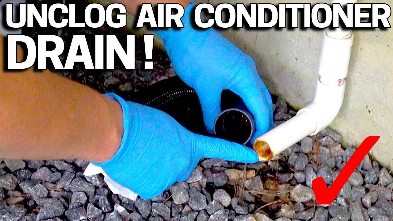 How to UNCLOG your AC DRAIN Condensate line FAST Water