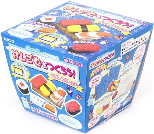 Diy eraser making kit to make yourself sushi eraser funny eraser diy eraser making kit to make yourself sushi eraser solutioingenieria Images