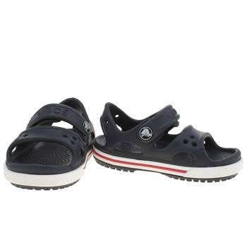 97fef1acb52a kids crocs navy   white crocband sandal boys toddler