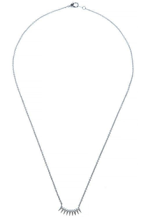 {Accent Linked Triangle Necklace}