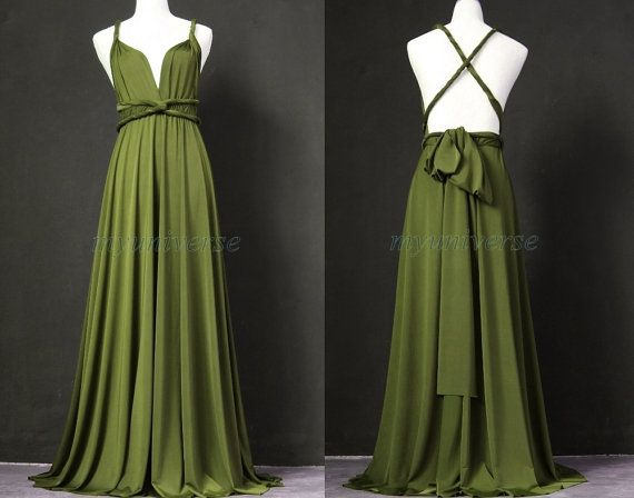 Sage Bridesmaid Dress Olive Green Infinity Dress Wrap Convertible ...