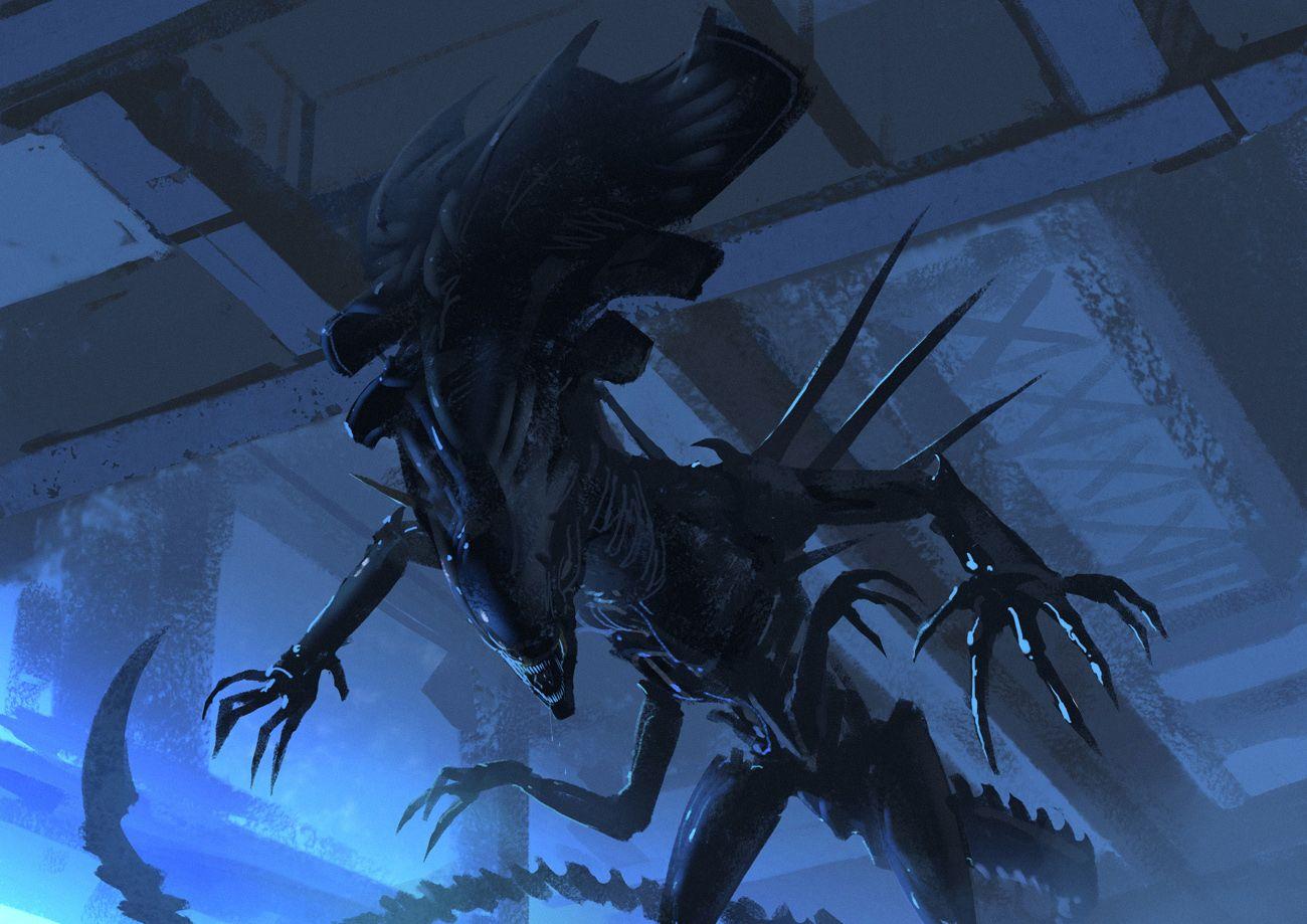 b0988f86174 Alien Queen - RIP Giger by Hideyoshi
