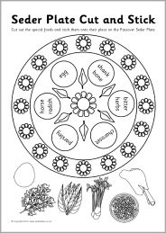 photo about Printable Seder Plate titled Jewish Seder Plate minimize and adhere recreation (SB3278