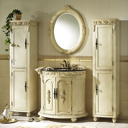 country chic cottage   Arredo nel bagno in stile shabby chic ...