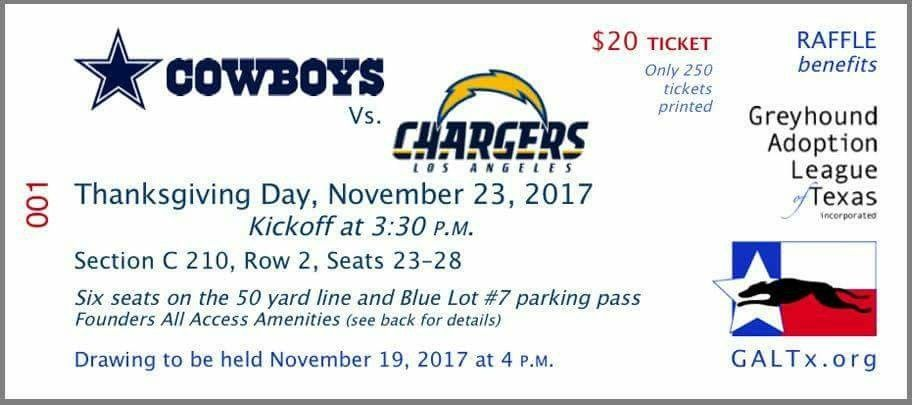 visit our website to buy your raffle tickets to win six seats at the cowboys v