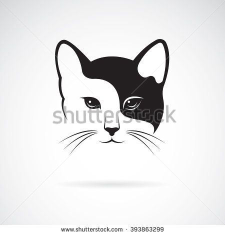 vector of a cat face design on white background pet