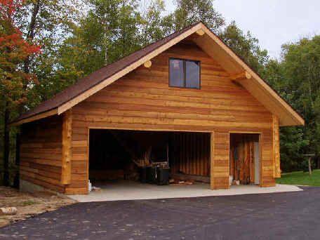 Impressive Log Garage Cabins In 2019 Pinterest