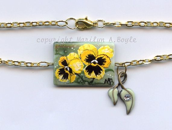SOLD - JEWELRY  ANKLET  BEAD Hand Painted original by OriginalSandMore