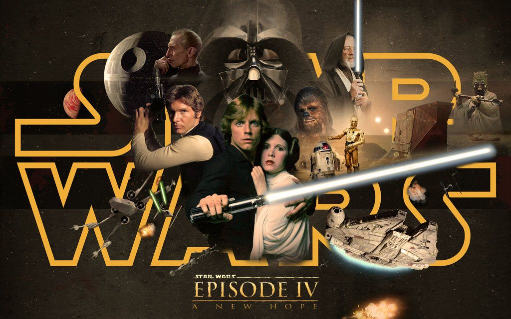 Star Wars Episode Iv A New Hope By 1darthvader On Deviantart Star Wars Episode 4 Star Wars Episode Iv Star Wars Movies Posters
