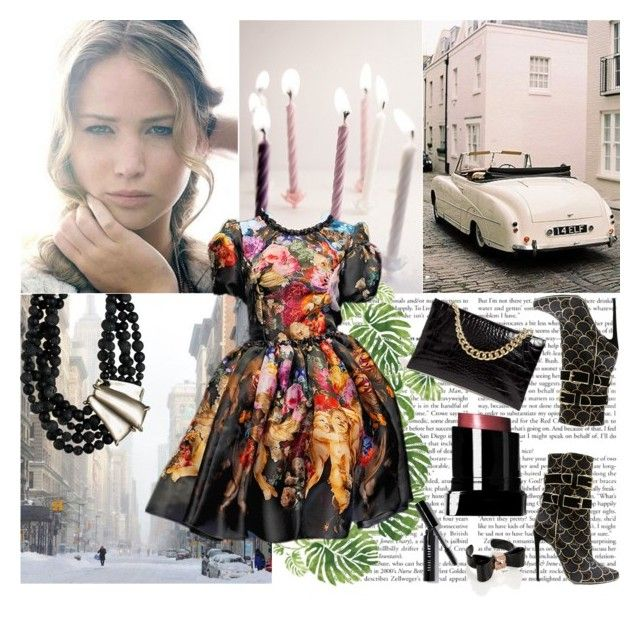 """""""Jennifer Lawrence"""" by shaneeeee ❤ liked on Polyvore featuring мода, Rainforest, Bobbi Brown Cosmetics, Alexis Bittar и Ted Baker"""