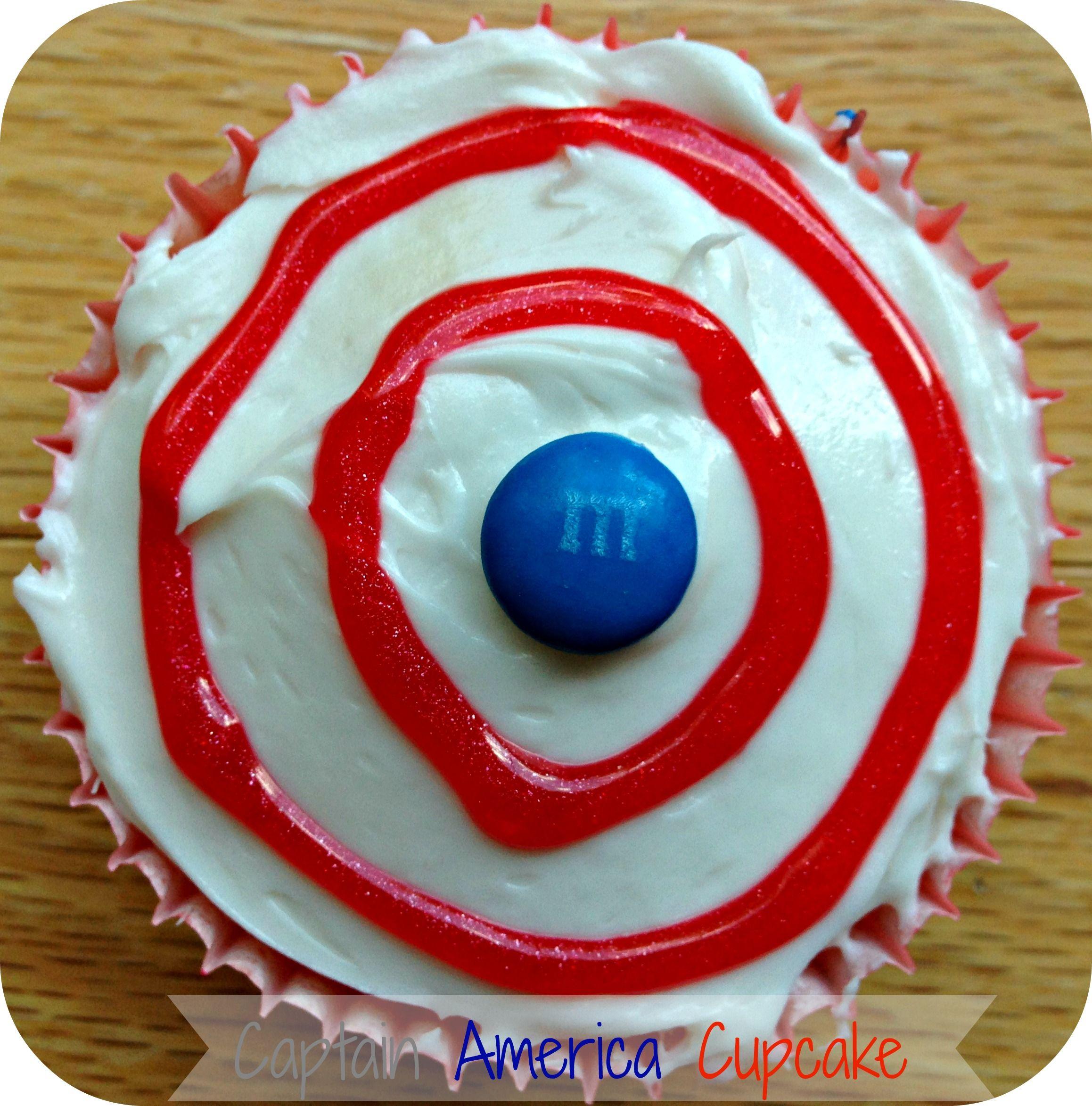 Kids DIY Captain America Cupcakes Captain america shield