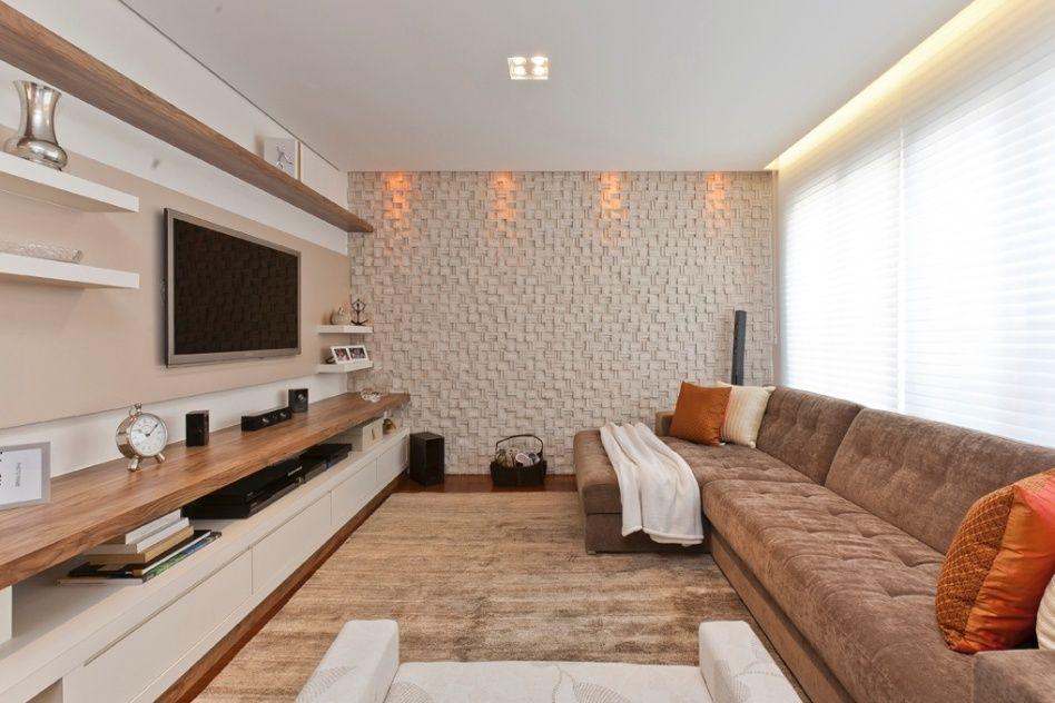 Veja ideias criativas e impactantes para decorar as for Decorar paredes living