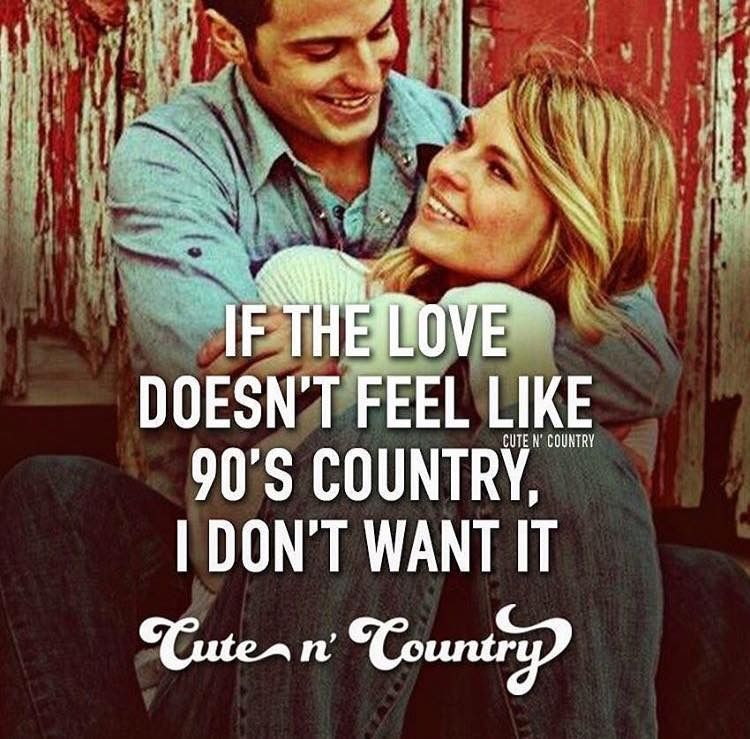 Country love songs from a woman to a man
