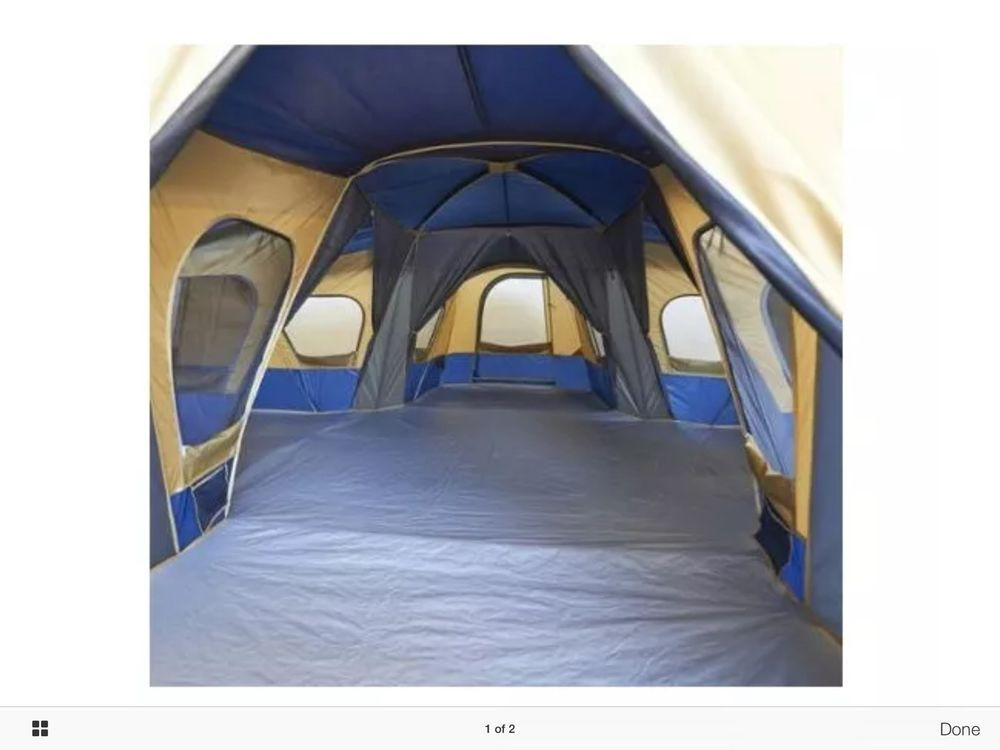 NEW 14 Person 20x20 Camping Base Tent 4 Room Divider 20 Minute