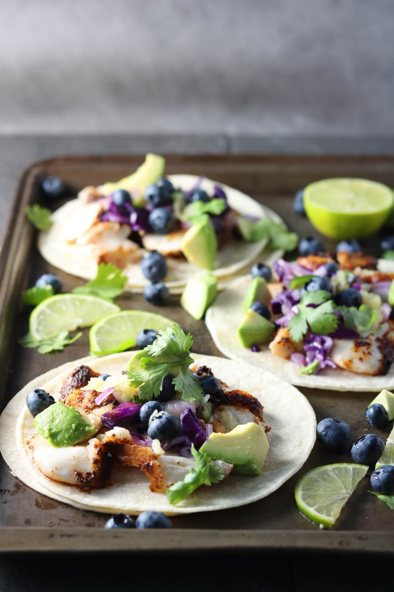 Spicy Fish Tacos With Blueberry Pineapple Slaw Spicy Fish Tacos