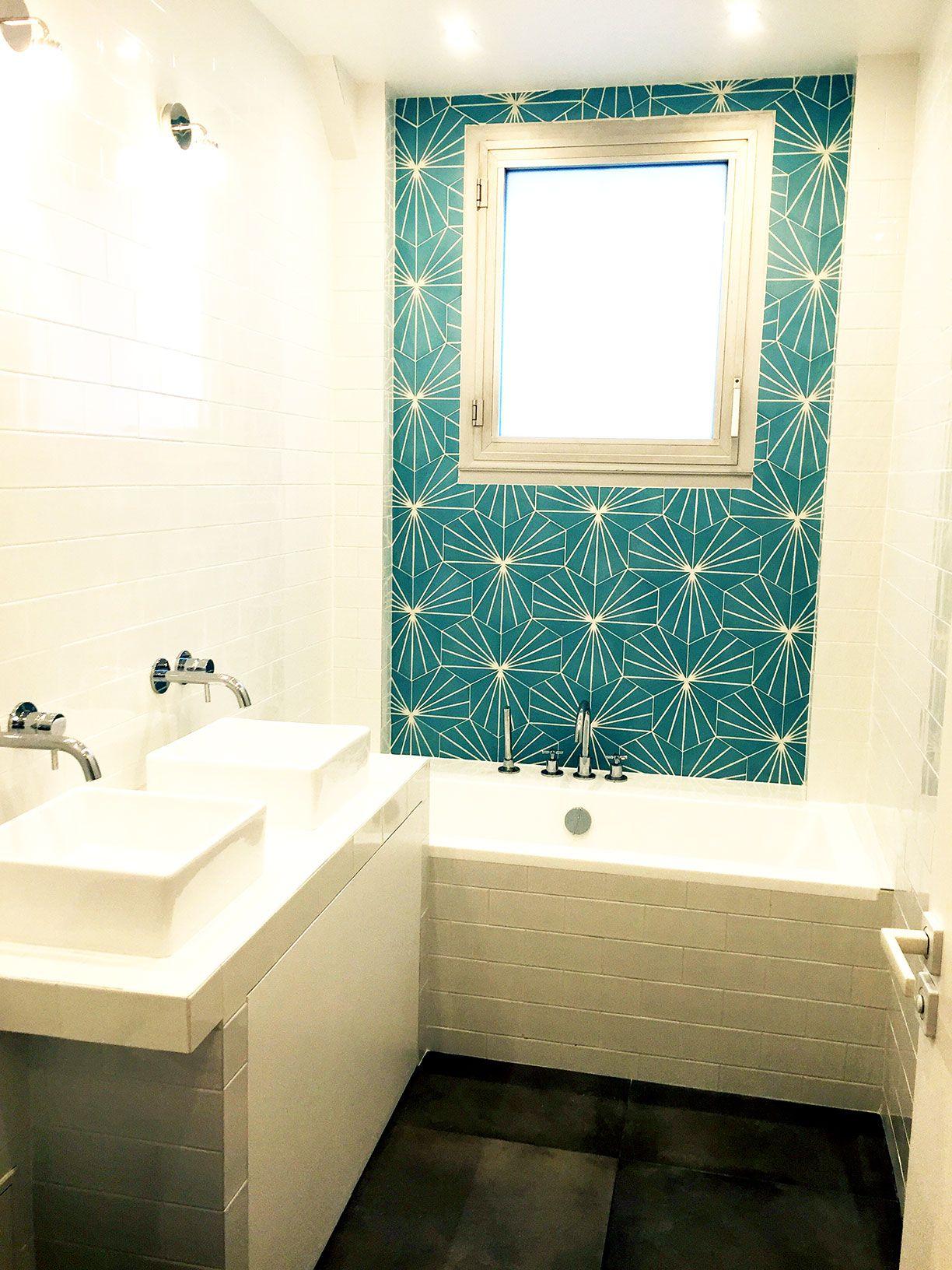 Am nager une salle de bain dans un studio masalledebain - Comment repeindre une salle de bain ...