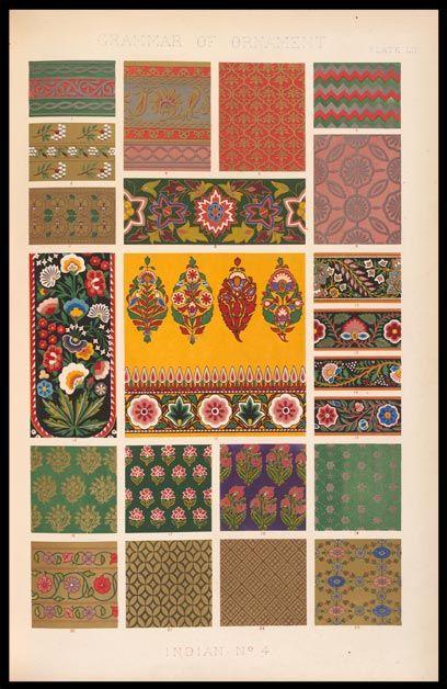Preposition In Learn In Marathi All Complate: Owen Jones, Grammar Of Ornament, Indian No. 4, Plate LII