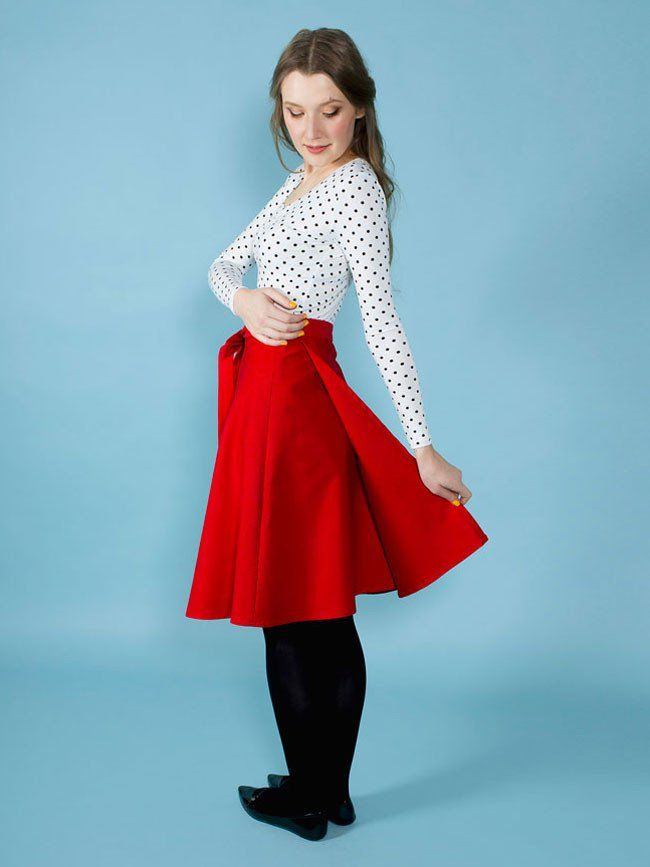 Miette wraparound skirt pattern by Tilly and the Buttons – great for ...