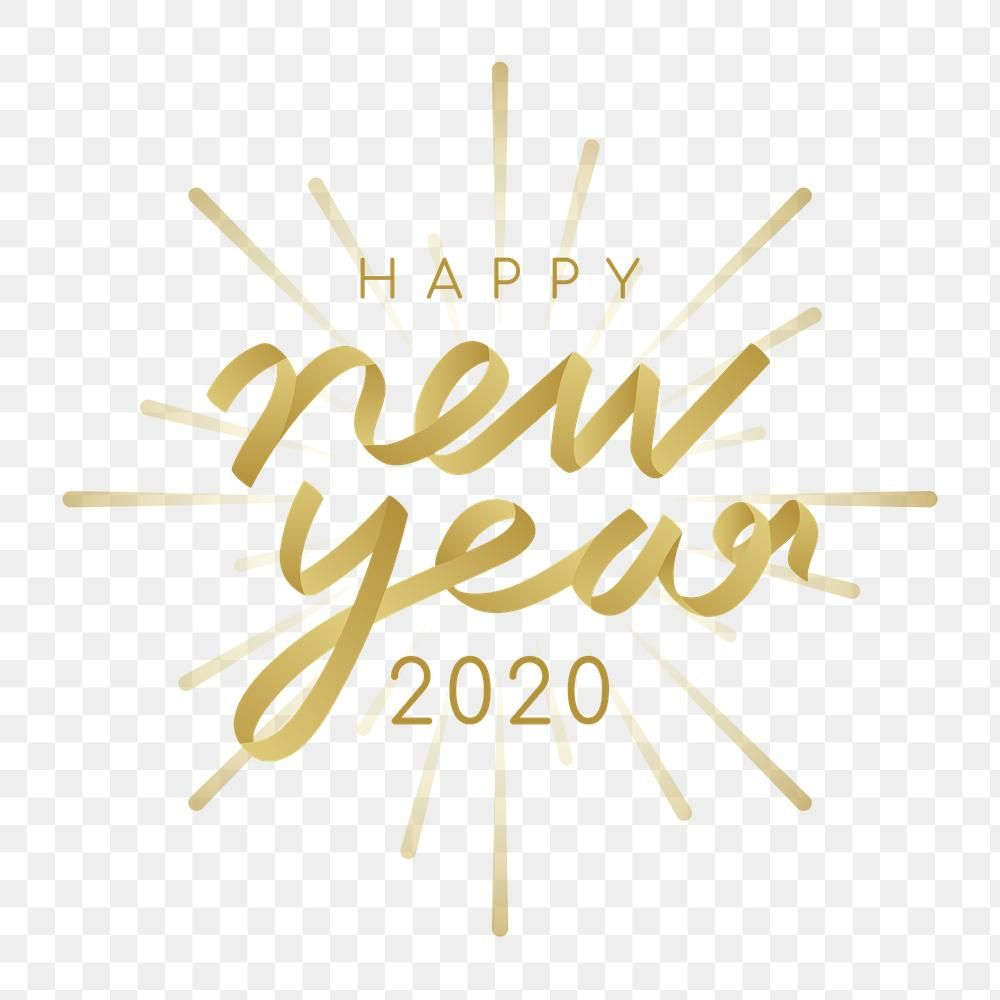 Happy New Year 2020 Transparent Background Png Premium Image By Rawpixel Com Ningzk V Happy New Year Png Happy New Year Stickers Happy New Year Pictures