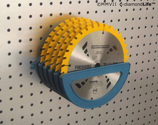Pegboard Accessories By Diamondlife Wall Mounted Tv Saw Blade Storage Diy Tv Wall Mount