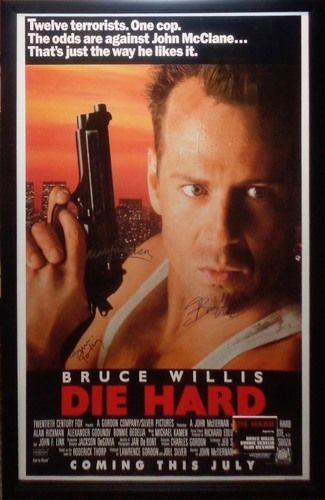 Die Hard Signed Poster By 3 Hard Movie Famous Movies Top Movies