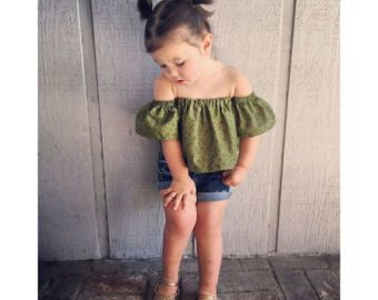 0b2c75567 off the shoulder top - peasant top -childrens blouse - toddler ...