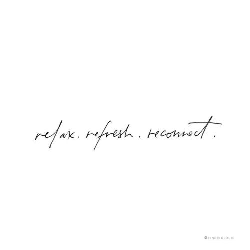 Simple Typography Spells Out A Powerful Motivation For: Relax. Refresh. Reconnect. #ELLEMERswimwear