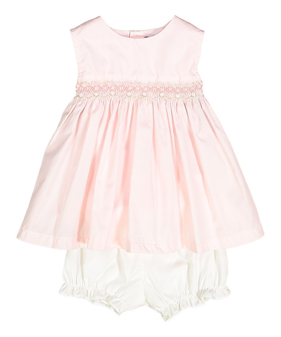Love this Les Petits Soleils by Fantaisie Kids Pink Smocked Swing Top & Bloomers - Infant & Kids by Les Petits Soleils by Fantaisie Kids on #zulily! #zulilyfinds