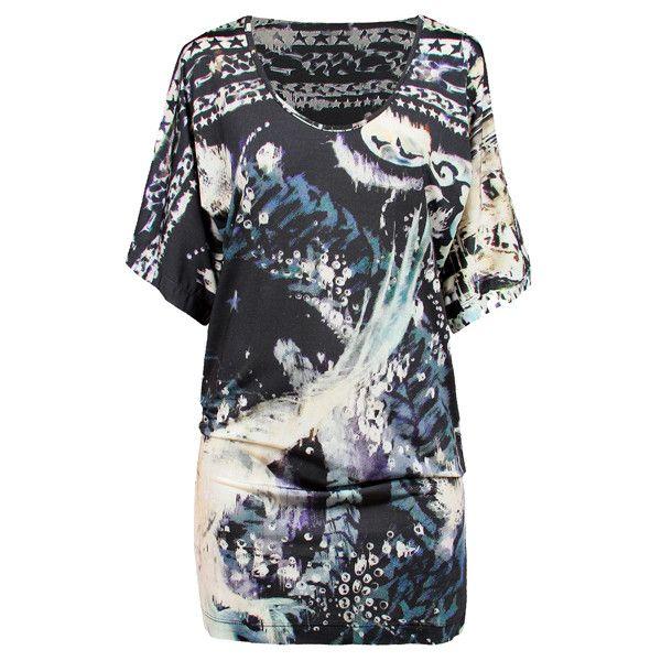 BALMAIN BEACHWEAR Beach Cover Up Tunic (315 CAD) ❤ liked on Polyvore featuring dresses and balmain