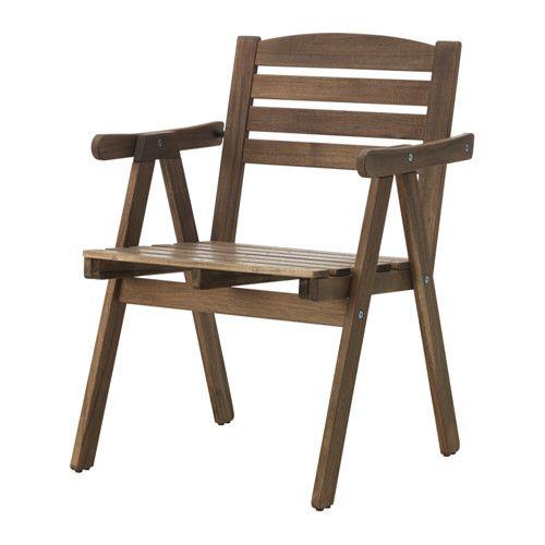 Falholmen Chaise Avec Accoudoirs Exterieur Teinte Gris Brun Teinte Brun Clair Fauteuil Gris Clair Chaise Accoudoir Ikea