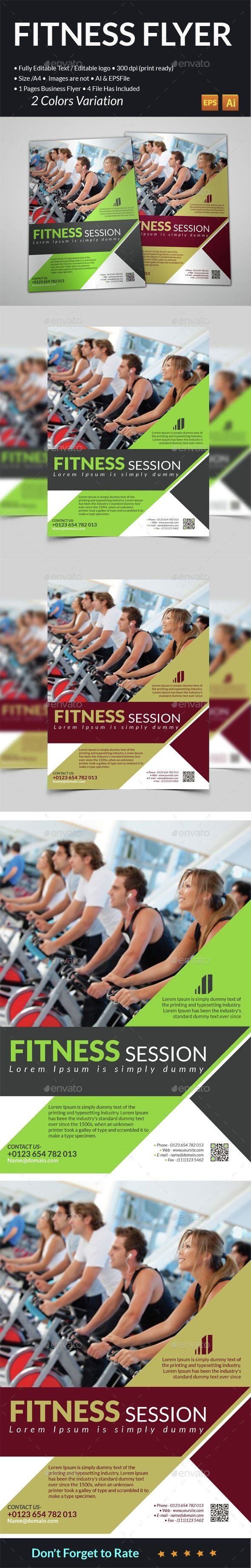 Fitness Club Flyer #AD #Fitness, #SPONSORED, #Club, #Flyer