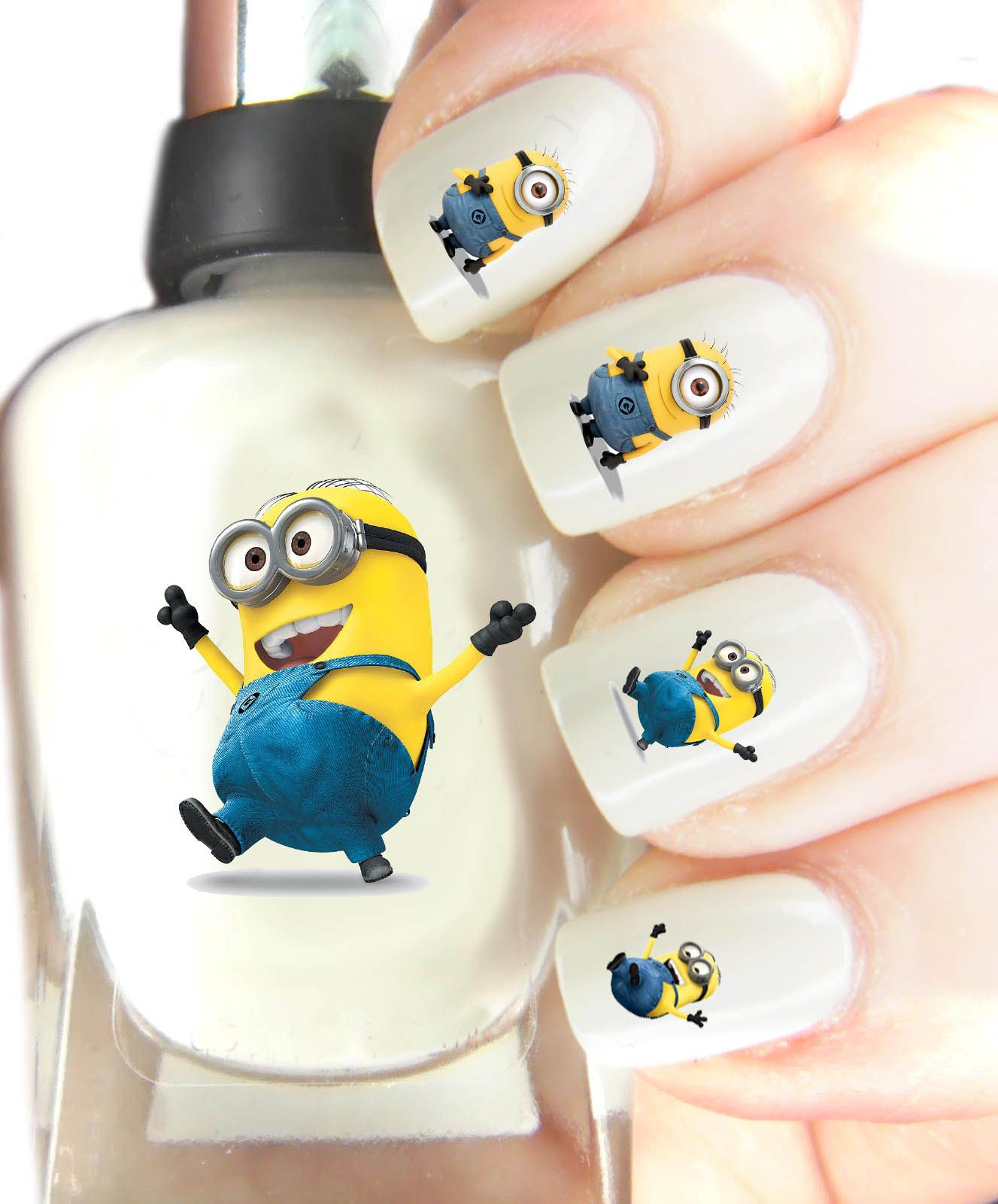 Unique Minion Nail Art Illustration - Nail Art Ideas - morihati.com