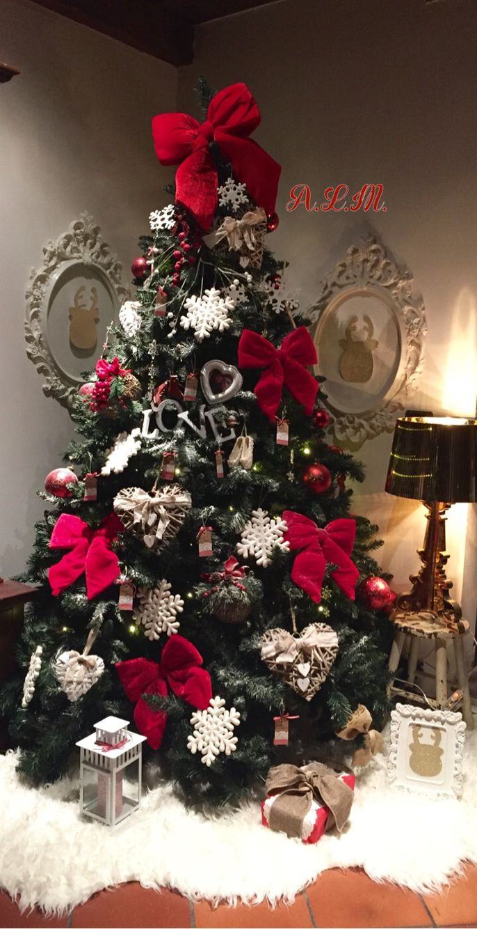 Albero Natale Decorato Rosso albero di natale renne fiocchi shabby barocco kartell ikea