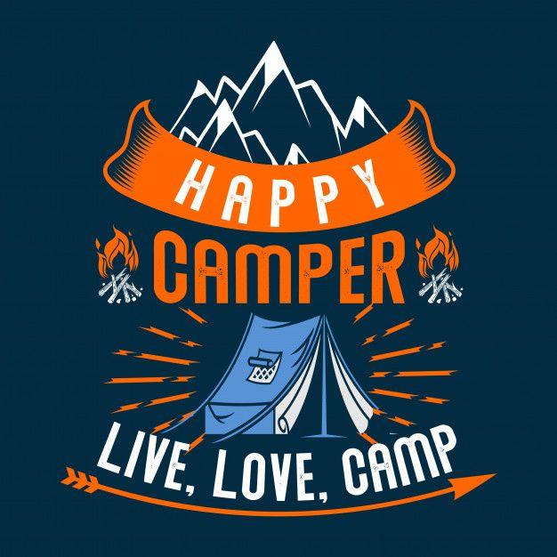 Download Happy Camper Live Love Camp   Happy campers, Outdoor logos ...
