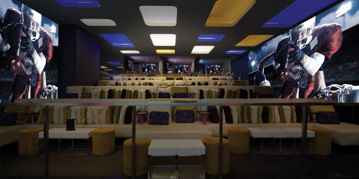 Stadium Seating Area emeril's sports bar in Vegas Las