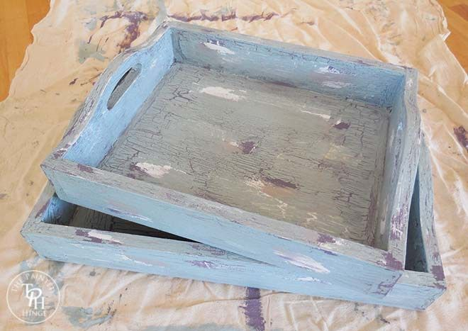 Antiquing Wood Trays With Chalk Paint