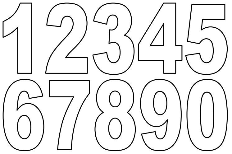Small Printable Numbers Free Printable Numbers Printable Letters Printable Numbers