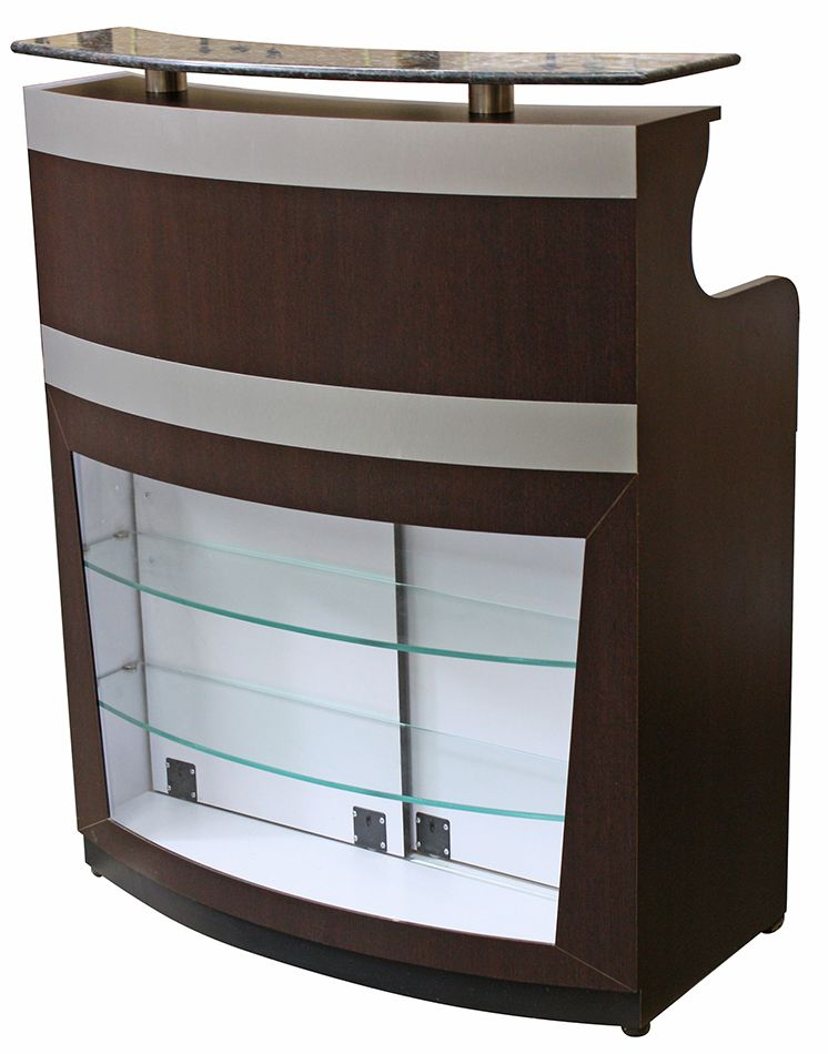 Cc 3112 Reception Desk With Retail Display And Granite Top