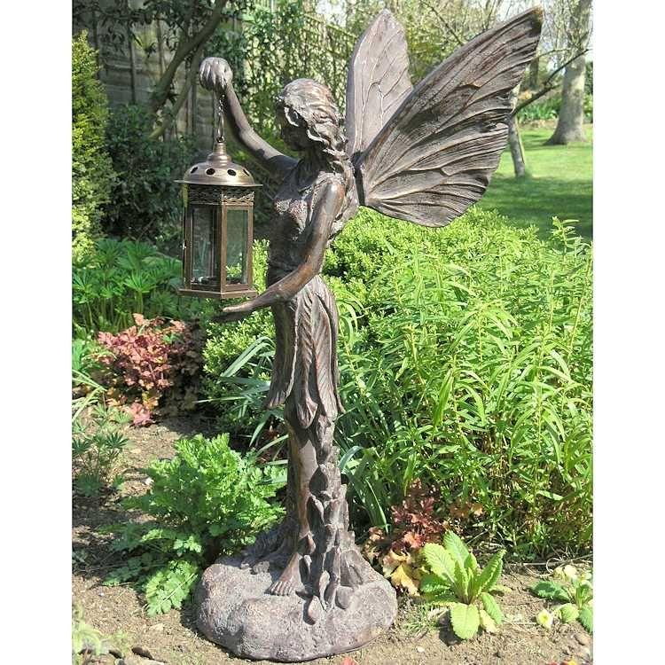 Garden Statues Fairies: Fantastic Fairy With A Lantern