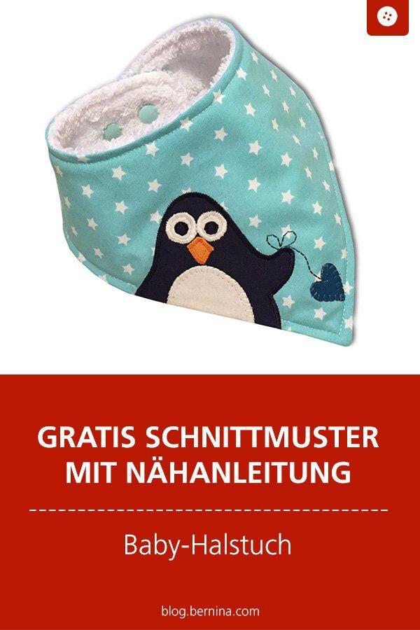 Défi BERNINA: coudre sans couper? Un bébé bandana pingouin dont vous allez tomber amoureux! »Blog BERNINA   – Nähen für Baby & Kind