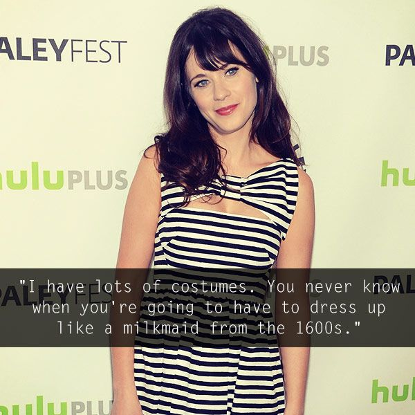 Zooey Deschanel's quirky style is fun and inspiring! #celebrities #fashion